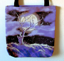 13X13 Tote Bag w/ Old Tree in the Moonlight