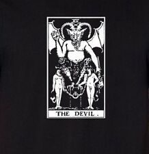 THE DEVIL TAROT CARD Premium Cotton T-shirt fortune telling psychic occult tee