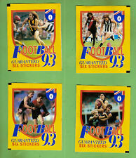 1993 Select AFL Sticker Packets X 4 Unopened