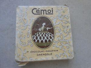 boite pub ancienne chocolat cémoi dimensions 11 x 11 cm