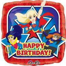 """Dc super hero filles 18"""" joyeux anniversaire carré foil balloon childrens party"""