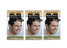 Hair Color for Men Healthy Looking Blends Grey Non Permanent Dark Brown 3 Pack
