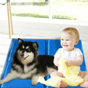Summer Self-Cooling Gel Mat Pet Puppy Bed Non-Toxic Cool Pad Flexible Portable