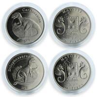 France Mayotte1 franc set of 2 coins Dinosaur coin 2017