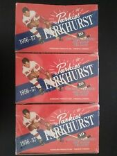 Lot of 3 1956-1957 Parkhurst Hockey boxes, Gordie Howe, Look for the rare auto's