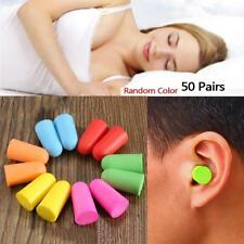 50 Pairs Soft Foam Ear Plugs Tapered Sleep Travel Noise Prevention Earplugs UP