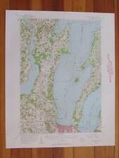Traverse City Michigan 1958 Original Vintage USGS Topo Map