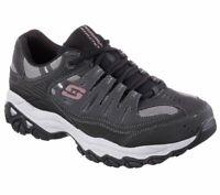 Skechers Charcoal Black Shoes EWW 4E Wide Width Big & Tall Men Memory Foam 50125