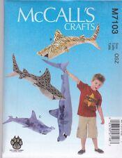 McCall's Patrón De Costura Manualidades Sharks Grandiosos Tigre Blanco