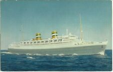 Vtg PC ~ SS NIEUW AMSTERDAM Holland - America Line Unsent Postcard