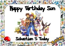 personalised birthday card Pokemon any name/age/relation