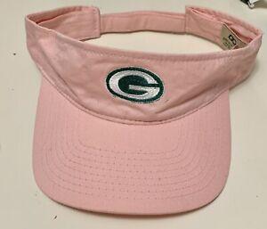 Green Bay Packers NFL PINK Visor. Golf Hat Adjustable. Breast Cancer Awareness