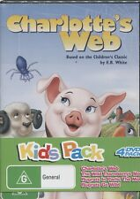 KIDS PACK - BOXED SET - 4 DVD's - RUGRATS GO WILD - CHARLOTTE'S WEBB - 4 MOVIES