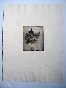"""""""Marblehead 1880"""" etching by Charles Hebert Woodbury"""