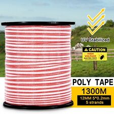 Polytape 1300M Roll Electric Fence Energiser Stainless Steel Poly Tape Insulator