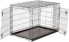 Extra Large Dog Kennel Crate 48in Folding Cage 2 Doors Metal ABS Tray Pan XL XXL
