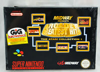 ATARI Midway ARCADE'S GREATEST HITS Super Nintendo SNES Neuf sous blister PAL