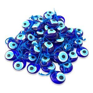 Blue Glass Turkish Evil Eye Lucky Eye Charm Home Office Car Patio 3-4-5 Cm