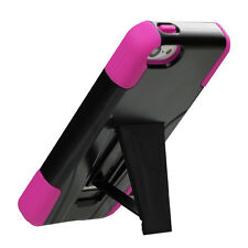 2013 * FOR APPLE iPhone 5C black PINK hybrid Inverse Advanced Stand cover case