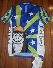Pearl Izumi LTD Junior Cycling Jersey BLUE CIRCUS Junior's Med ~ NWT $55