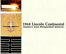 New listing 1968 Lincoln Continental Deluxe Brochure -Lincoln Continental 2D Coupe-4D Sedan