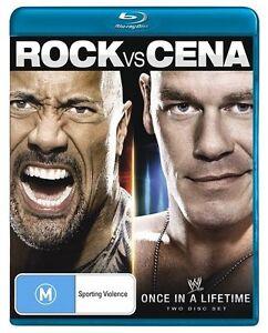 WWE - The Rock Vs. John Cena - Once In A Lifetime Blu-ray, 2-Disc Set brand new!