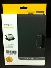 Targus iPad 4 iPad 3 2 Vuscape Folio Flip Book Case w Stand Cover Charcoal Gray