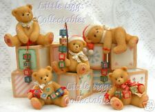 Cherished Teddies Displayer With 5 Holiday Dangling Bears