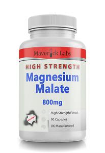 Magnesium Malate 800mg Strongest UK Vegan Safe High Strength Muscle Sleep