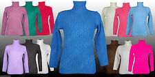 Unbranded Women's Polo Neck Long Sleeve Hip Length Jumpers & Cardigans