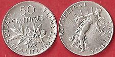 50 CTS ARGENT 1898 SEMEUSE  ÉTAT VOIR PHOTO ET DESCRIPTIF
