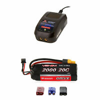 Venom 20C 2S 2000mAh 7.4V LiPo Battery and Sport Charger Combo