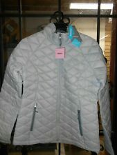 FREE COUNTRY PACKABLE DOWN LADIES JACKET, SMALL- WINTER SILVER