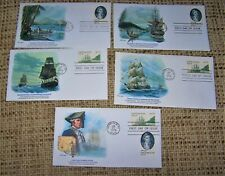 "Fleetwood First Day Covers  ""CAPTAIN COOK"" Commemorative  Set of 5 (1978)"