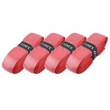 Yonex Hi Soft Grap Tennis Squash Badminton Replacement Grip - Red - Pack of 4