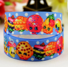 1 meter of shopkins 25mm Grosgrain Ribbon for card Making or Bows