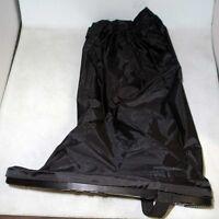 Rain Boot Covers for Motorcycle Black Reflective Nylon Waterproof Shoe Guard