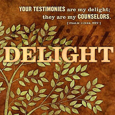 Dellight LCP Gift Tree Wrapped Canvas Print Psalm 119:24 ESV 12 x 12 x 1 inches