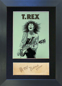 MARC BOLAN T REX Signed Mounted Reproduction Autograph Photo Prints A4 485