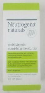 Neutrogena Naturals Multi Vitamin Nourishing Moisturizer 3 fl oz Won't Clog Pore