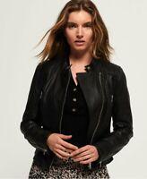 Women Leather Jacket Black Biker Moto Pure Lambskin Size S M L XL XXL Custom Fit