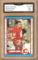 1989-90 O-Pee-Chee #232 Theo Fleury RC | Graded GEM MINT 10 | Calgary Flames