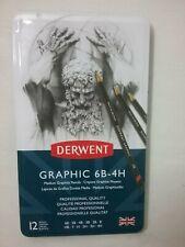 Brand New Derwent Graphic 6B-4H 12 Medium Graphite - Brand New