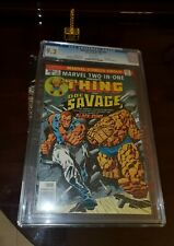 MARVEL TWO-IN-ONE #21 CGC 9.2 CLASSIC BOOK * DOC SAVAGE * THING * HUMAN TORCH