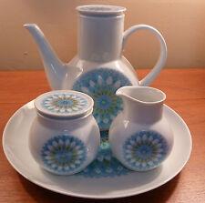 Mid-century Noritake Younger Image BAHAMA coffee pot, sugar, creamer, charger