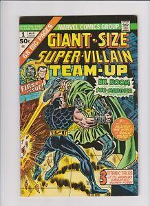 Giant Size Super Villain Team Up #1 (Mar 1974, Marvel) Dr. Doom Savage Sub Marin