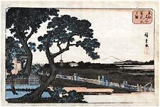 Ando HIROSHIGE View of Matsuchiyama ORIGINAL Woodblock Print