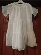Gymboree girls white eyelet dress size 14 nwt