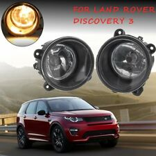 Pair Front Clear Fog Lights Lamp w/ H11 Bulbs For Land Rover Discovery 2004-2009