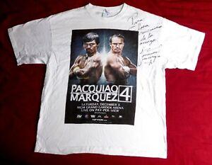 Manny Pacquiao VS Juan Manuel Marquez IV. signed t-shirt